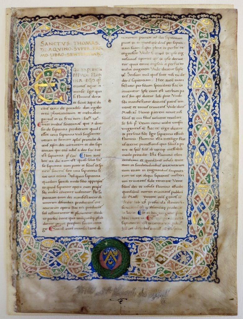 Beinecke Rare Book & Manuscript Library, Otto Ege Collection, FOL Set 3, MS 40, Specimen 1 revealed below the Mat. Photography Mildred Budny.