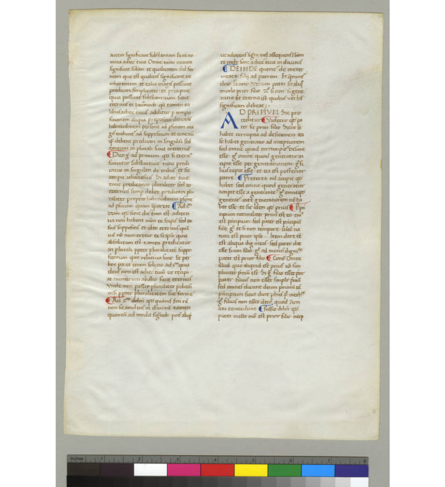 University of Minnesota Libraries, Ege Manuscript 40, Recto. Image via Creative Commons.