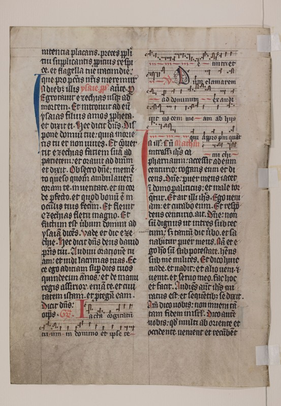 Otto F. Ege: Fifty Original Leaves from Medieval Manuscripts, Leaf 22, Verso, Special Collections and University Archives, Stony Brook University Libraries.