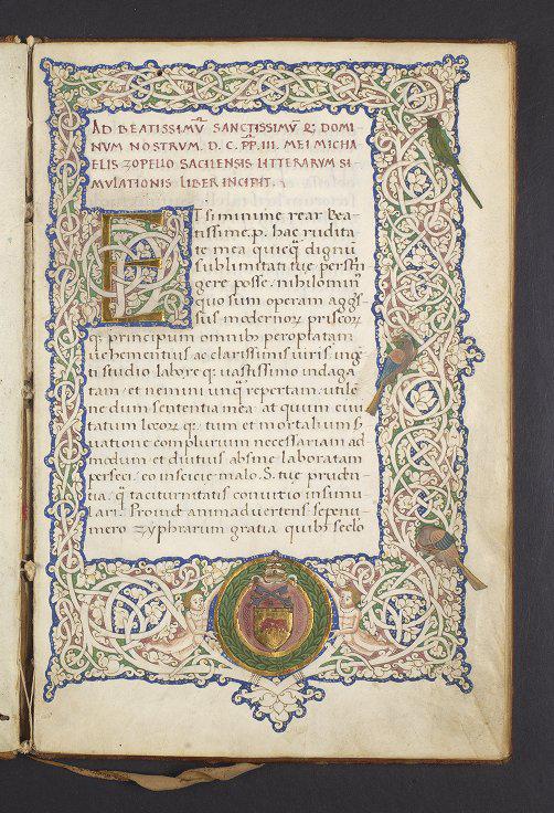 University of Pennsylvania, Lawrence J. Schoenberg Collection, LJS 225, folio 1r.