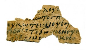 Coptic fragment on paper, 10th century CE