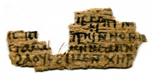 Coptic fragment on papyrus, 9th or 10th century CE