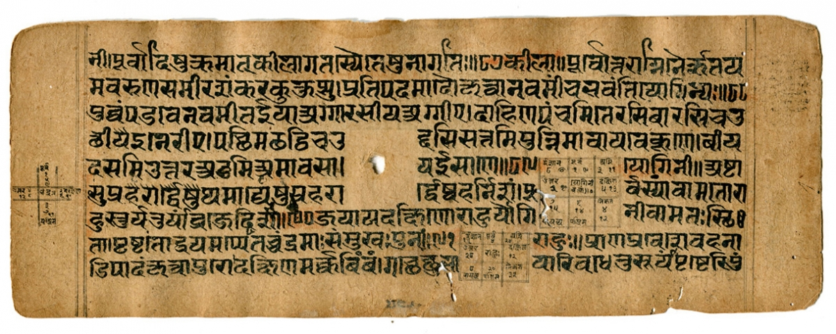 Correction Astrology text, probably in Sanskrit