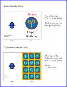 2015 Zodiac Cards poster 1